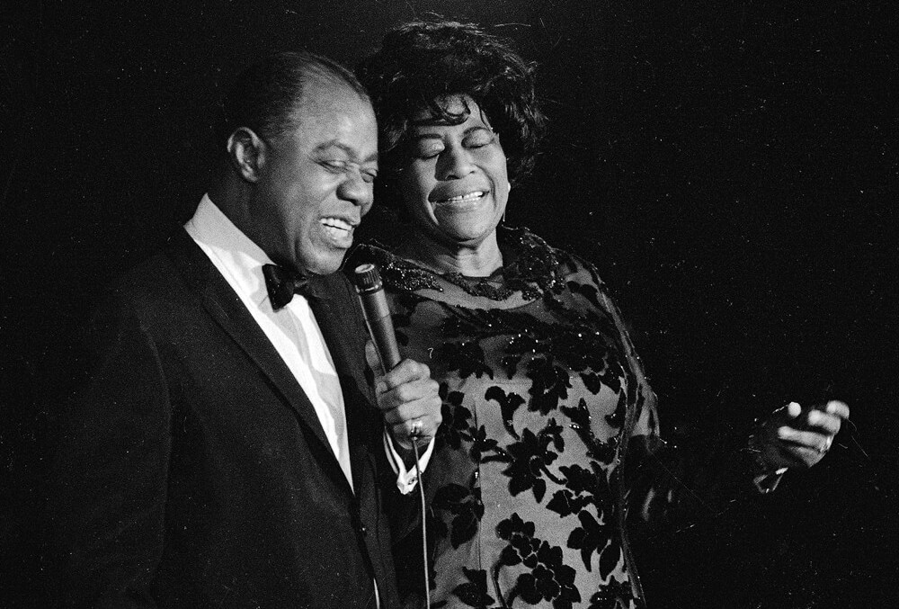 Ella Ella Fitzgerald and Louis Armstrong